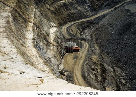 Loaded Ore Truck From An Underground Mine