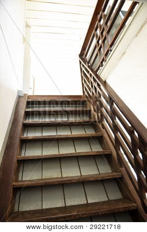Brown Old Wood Ladder Home Indoor