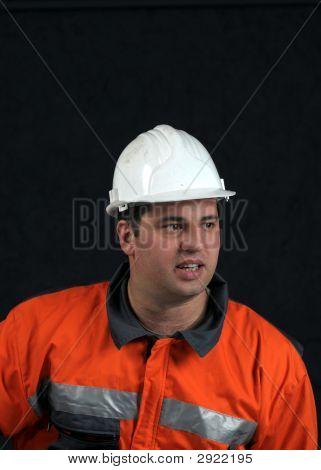 Portrait Of A Mine Worker