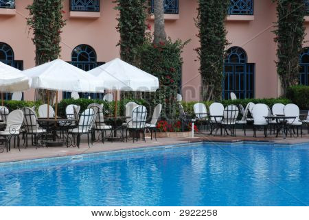 Poolside Dining In Marrakech