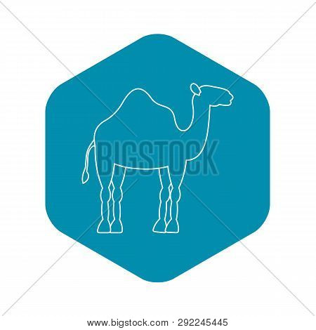 Dromedary Camel Icon. Outline Illustration Of Dromedary Camel Vector Icon For Web
