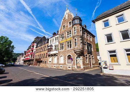 Moselkern, Germany - June 28, 2018: Typical German House In Eltz Castle Style. Burg Eltz Is A Mediev