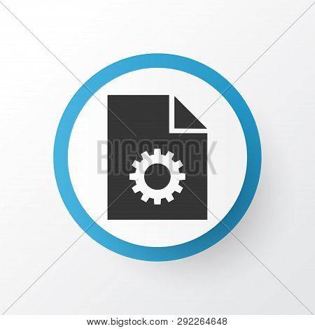 System icon symbol. Premium quality isolated configuration element in trendy style. poster