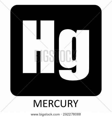 The Illustration Of Mercury Hg Chemical Element Icon