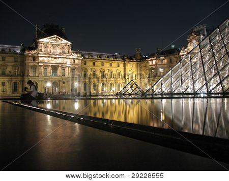 Louvre Pyramids in Paris; 22/07/09