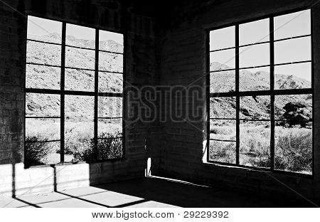 Windows in Desert Home