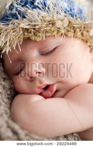 Sleeping baby close up