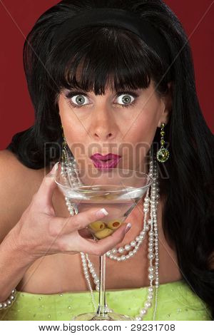 Woman With Martini