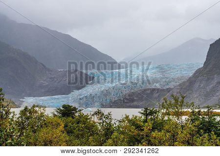 Mendenhall Glacier (sitaantaagu), One Of The Most Easily Accessible Alaska Glaciers, Is A Major Glac