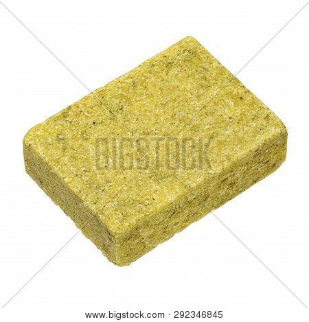 A Bouillon Or Stock Cube Isolated On White Background. Shaped Dehydrated Bouillon