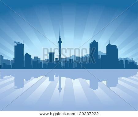Auckland, New Zealand Skyline