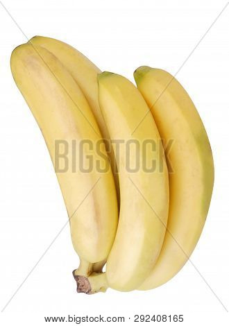 Image Of Many Yellow Banana Isolated At Day