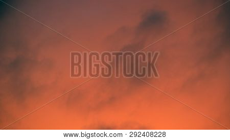 Image Of One Sunset Sky At Summer