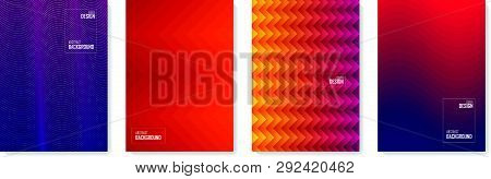 Abstract Pattern Background. Set Of Color Abstract Shapes, Abstract Design Background. Abstract Vect