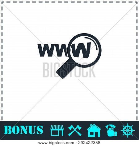 Website Search Icon Flat. Simple Vector Symbol And Bonus Icon