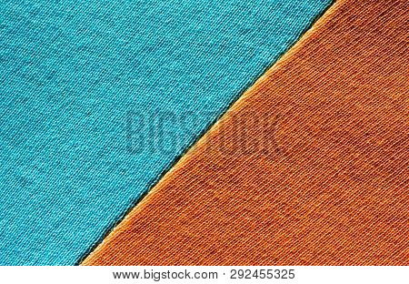 Colourful Geometric Backdrop, Minimal Pattern. Abstract Concise Design With Two Bright Colors. Orang