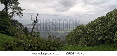 Amazing Panorama View From The O Gunung Raya Mountain, The Highest Point In Langkawi, Malaysia. Dist