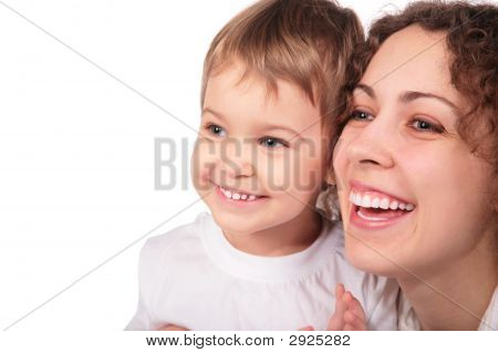 Mother With Child Isolated