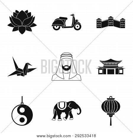 Faith Icons Set. Simple Set Of 9 Faith Icons For Web Isolated On White Background