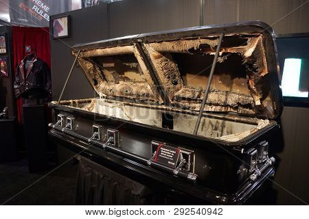 San Jose, California - March 28, 2015.: Exploded Casket From Undertaker Vs. Brock Lesnar Match At Wr