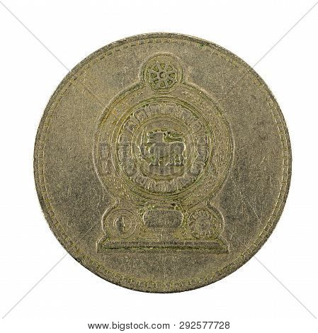 2 Sri Lankan Rupee Coin (1984) Reverse Isolated On White Background
