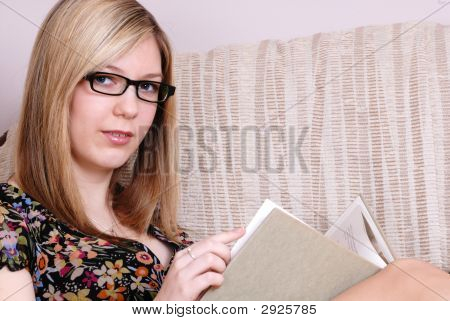 Cute Young Blonde Student