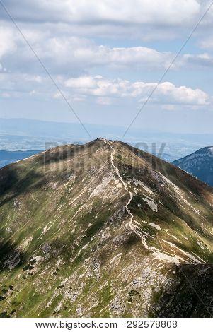 View To Volovec Mountain Peak On Slovakian-polish Borders From Placlive Mountain Peak On Rohace Moun