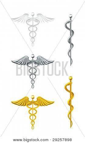 Caduceus, set vector