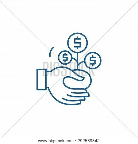 Co Financing Line Icon Concept. Co Financing Flat  Vector Symbol, Sign, Outline Illustration.