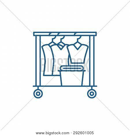 Dresser Line Icon Concept. Dresser Flat  Vector Symbol, Sign, Outline Illustration.