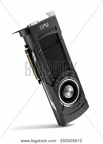 Power Gpu Graphic Card Isolated On White Background 3D