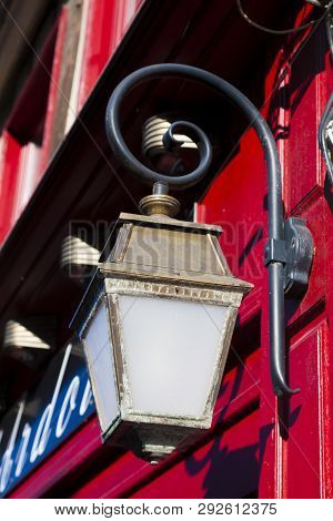 Street Lamp In Saint-valery-sur-somme, Somme, Hauts-de-france, France