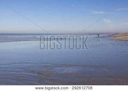 Beach Of Cayeux-sur-mer In Somme, Hauts-de-france, France
