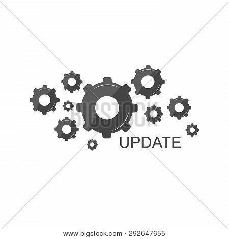 System Update. Vector Illustration Of Computer Update And Mobile Update. Product And The Process Of