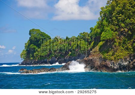 Waves And Rocks In The Tropics
