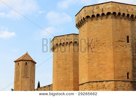 Wall of the fortress of the monastery of Poblet, Spain