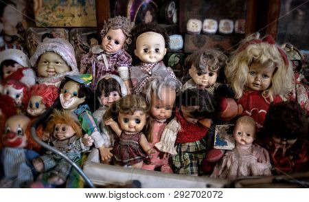 Vintage Old Baby Dall Toys Collection.