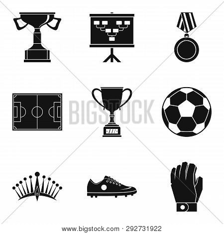 Champion Icons Set. Simple Set Of 9 Champion Icons For Web Isolated On White Background