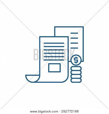 Investor Memorandum Line Icon Concept. Investor Memorandum Flat  Vector Symbol, Sign, Outline Illust