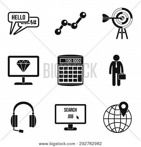 Elaboration Icons Set. Simple Set Of 9 Elaboration Icons For Web Isolated On White Background
