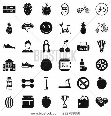 Protein icons set. Simple style of 36 protein icons for web isolated on white background poster