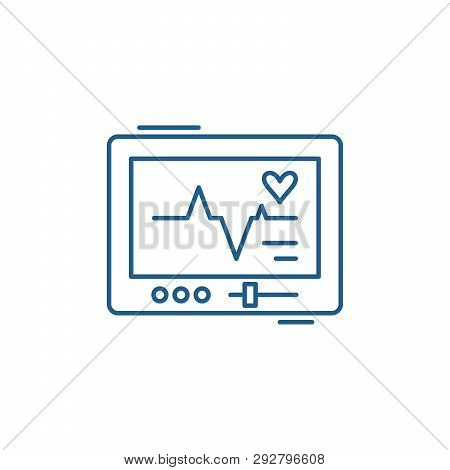 Pacemaker Line Icon Concept. Pacemaker Flat  Vector Symbol, Sign, Outline Illustration.