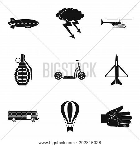 Militant Icons Set. Simple Set Of 9 Militant Icons For Web Isolated On White Background