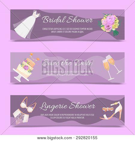 Bridal Shower Set Vector Photo Free Trial Bigstock