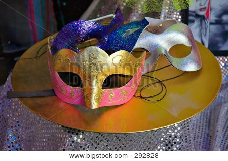 Carnaval Masks On Table