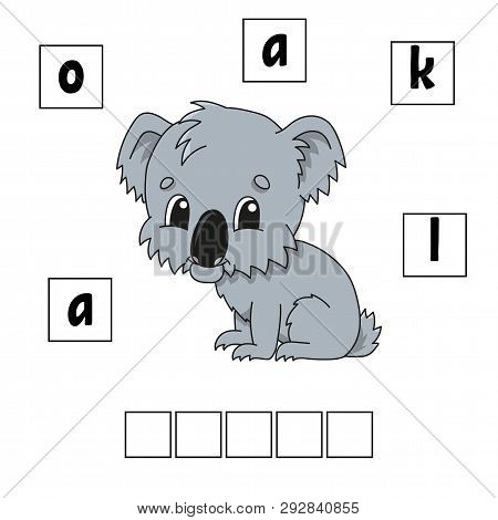 Words puzzle. Education developing worksheet. Game for kids. Activity page. Puzzle for children. Riddle for preschool. Simple flat isolated vector illustration in cute cartoon style poster