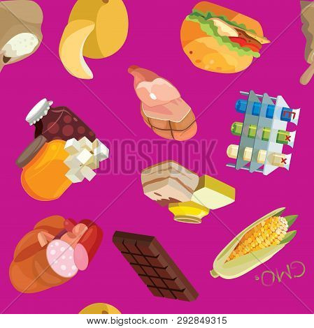 Fast Food, Sausages, Heavy Foods, Fast Carbohydrates, Smoked Products, Gmos, Semolina, Refractory Fa