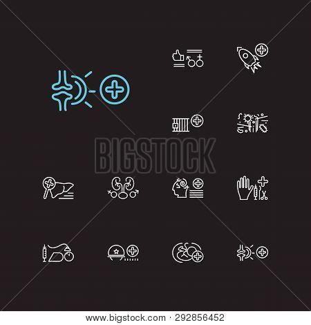 Medical Sciences Icons Set. Anesthesiology And Medical Sciences Icons With Prison Healthcare, Obstet