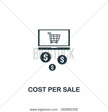 Cost Per Sale Icon. Creative Element Design From Content Icons Collection. Pixel Perfect Cost Per Sa
