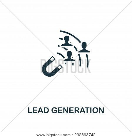Lead Generation Icon. Creative Element Design From Content Icons Collection. Pixel Perfect Lead Gene